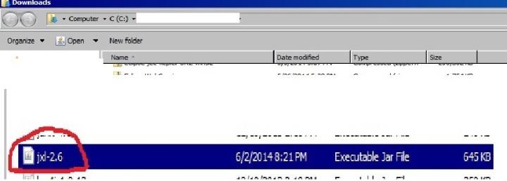 downloaded jar file