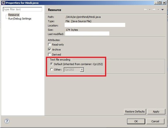 text file encoding options