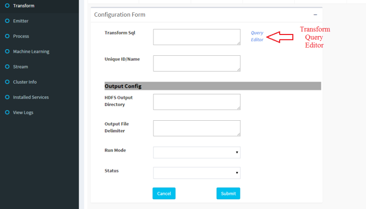 Click on Query Editor to launch Query Dashboard
