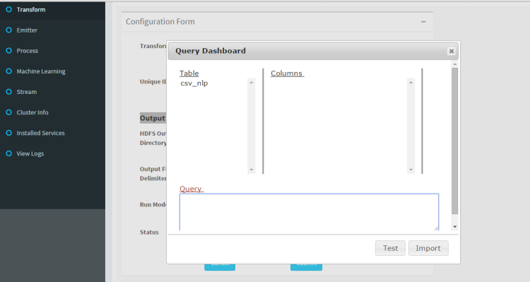This is how query dashboard looks like