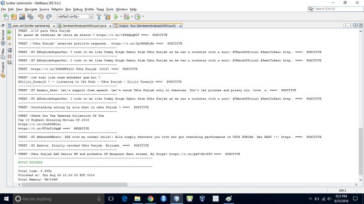 Twitter Sentiment Analysis Output Part 3