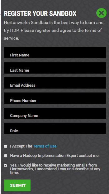 HDP Download Registration
