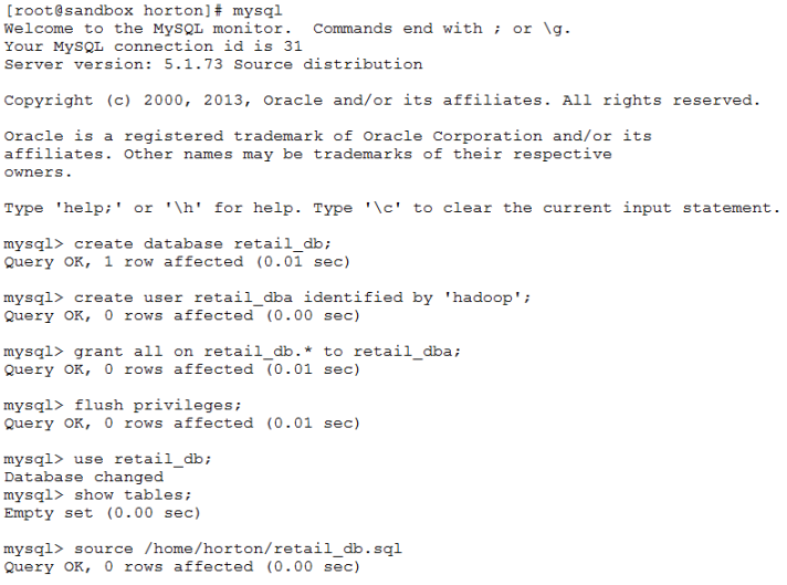 Loading MySQL Database Server