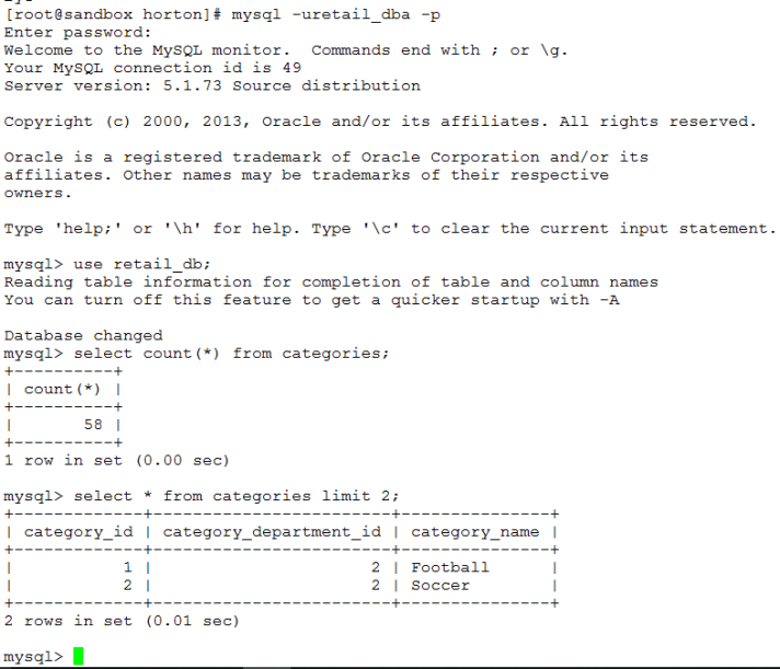 MySQL Sample Records and Count
