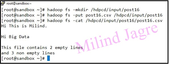 input file to HDFS