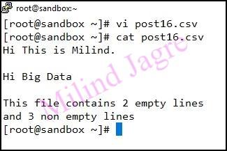 input file creation