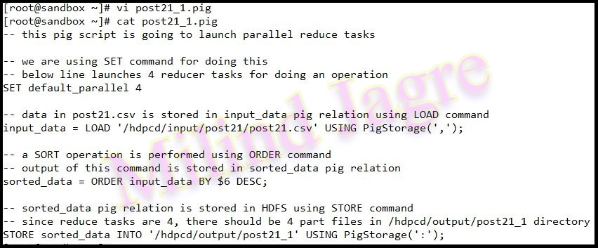 Step 3: pig script creation - 1
