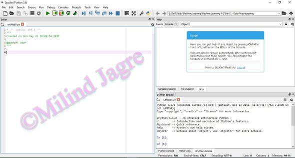 Spyder Console Application Window
