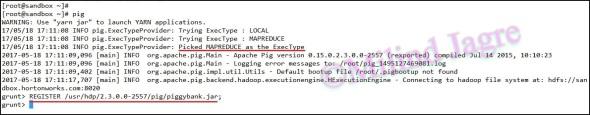 Step 2: Registering piggybank.jar file to the PIG session