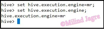 Step 2: Changing the execution engine to MapReduce