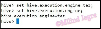 Step 4: Changing the execution engine to TeZ