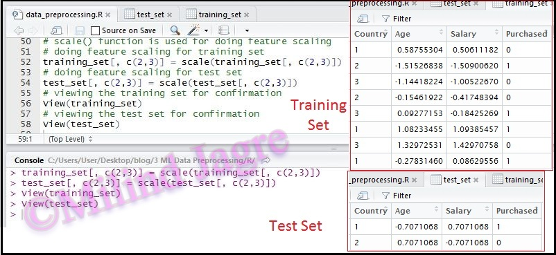 Feature Scaling in R